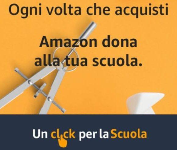 """Con """"Un click per la Scuola"""" puoi aiutarci quando acquisti su Amazon. Scopri come"""